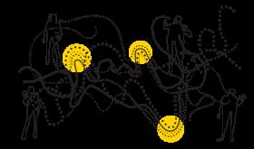 Polyfon ledelse illustration